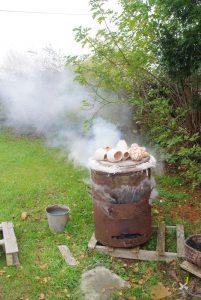 Deuxième cuisson bois et gaz