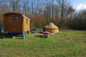 Notre campement à côté des Troglobal
