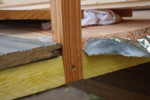 plancher douglas et isolant multicouche