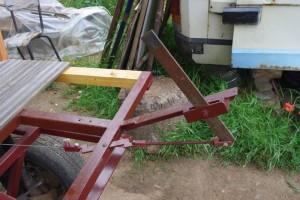 système freinage et plancher du pont en teck (récup')