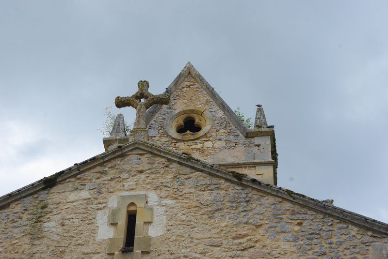 clocher de l'église de St Marcel du Périgord (24)