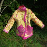 manteau en feutre artisanal Annie verso